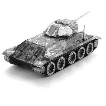 Creative T34 Tank 3D Metal High-quality DIY Laser Cut Puzzles Jigsaw Model Toy - SILVER