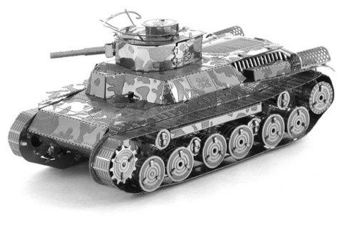 Creative Type 97 Tank 3D Metal High-quality DIY Laser Cut Puzzles Jigsaw Model Toy - SILVER