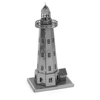 Creative Lighthouse 3D Metal High-quality DIY Laser Cut Puzzles Jigsaw Model Toy - SILVER