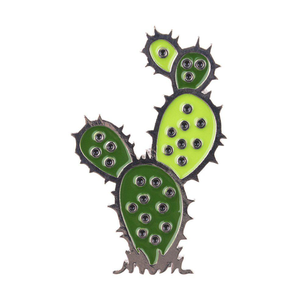 Cartoon Cactus Brooch Pin Enamel Icons Brooches For Women Girl Gift Jewelry Student Accessories - multicolor A