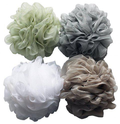 Large Eco-friendly Mesh Shower Ball Sponge 4PCS - multicolor
