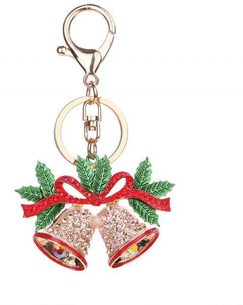 Christmas Bell Keychain Pendant - GOLD
