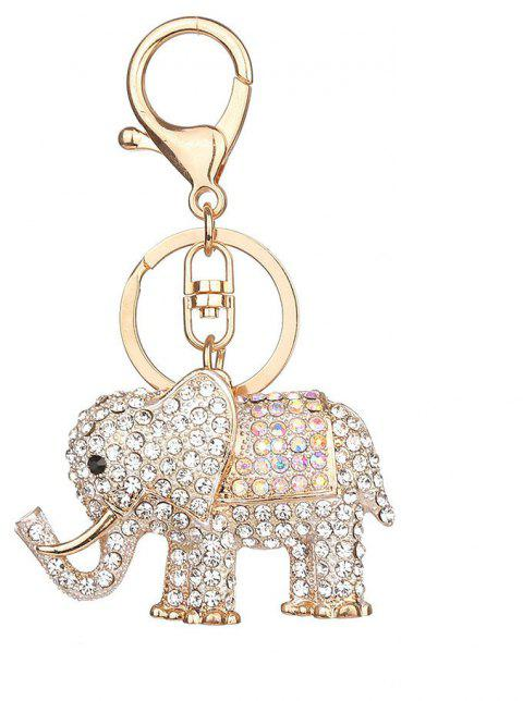 Europe and The United States Popular Diamond Elephant Key Chain - SILVER