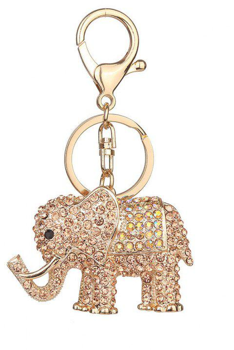Europe and The United States Popular Diamond Elephant Key Chain - GOLD