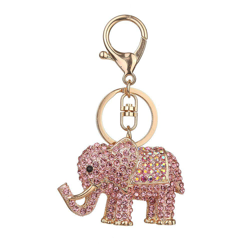 Europe and The United States Popular Diamond Elephant Key Chain - ROSE GOLD