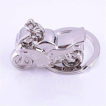 Personality Fashion Premium Gift Alloy Solid Motorcycle Keychain - SILVER