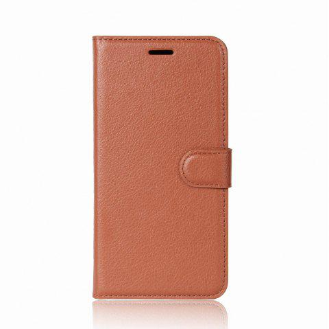 For Galaxy S9 PU Leather Case Wallet Folding Flip Case with Kickstand and Card Slots Magnetic Closure - CAMEL BROWN