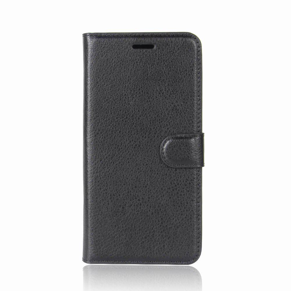 For Galaxy S9 PU Leather Case Wallet Folding Flip Case with Kickstand and Card Slots Magnetic Closure - BLACK