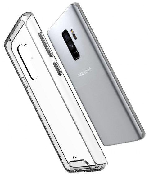 For Galaxy S9+ Case Cover HD Clear Shockproof and Anti-scratch Soft TPU and Hard PC Back Shell - TRANSPARENT