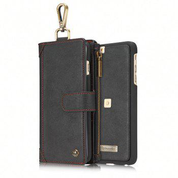CaseMe 009 for iPhone 6 Plus/ 6S Plus Multi Function Leather Wallet Case with Waist Hanging Hook and Credit Card Slot - BLACK