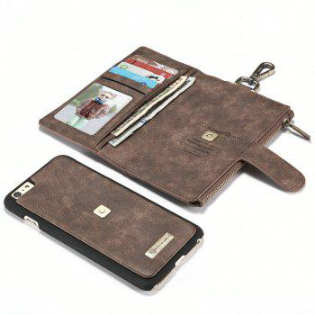 CaseMe 009 for iPhone 6 Plus/ 6S Plus Multi Function Leather Wallet Case with Waist Hanging Hook and Credit Card Slot - BROWN