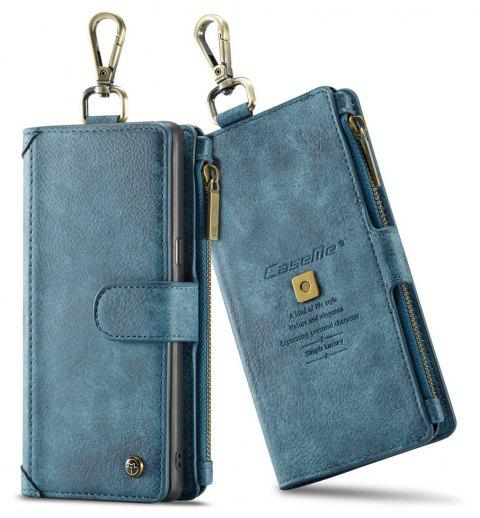 CaseMe 009 for Samsung Galaxy Note 8 Leather Flip Case with Credit Card Holder Slot and Zipper Wallet - BLUE