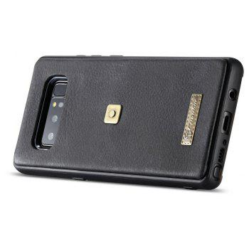 CaseMe 009 for Samsung Galaxy Note 8 Leather Flip Case with Credit Card Holder Slot and Zipper Wallet - BLACK