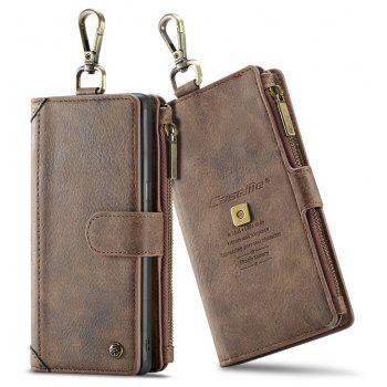 CaseMe 009 for Samsung Galaxy Note 8 Leather Flip Case with Credit Card Holder Slot and Zipper Wallet - BROWN