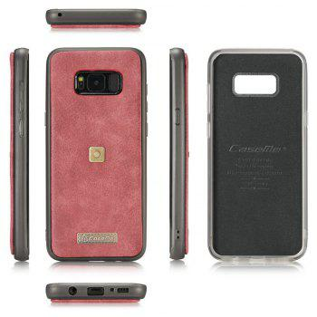 CaseMe 009 for Samsung Galaxy S8 Plus Leather Flip Wallet Case with Metal Hook Zipper Cash Card Slot - RED