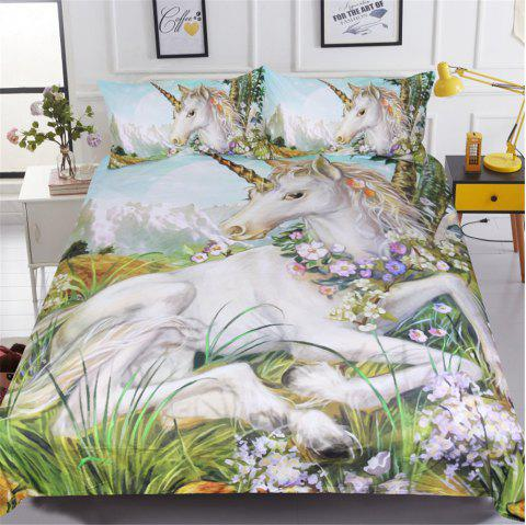 BeddingOutlet Unicorn Duvet Cover Set Twin Full Queen King 3 Pieces - multicolor A QUEEN