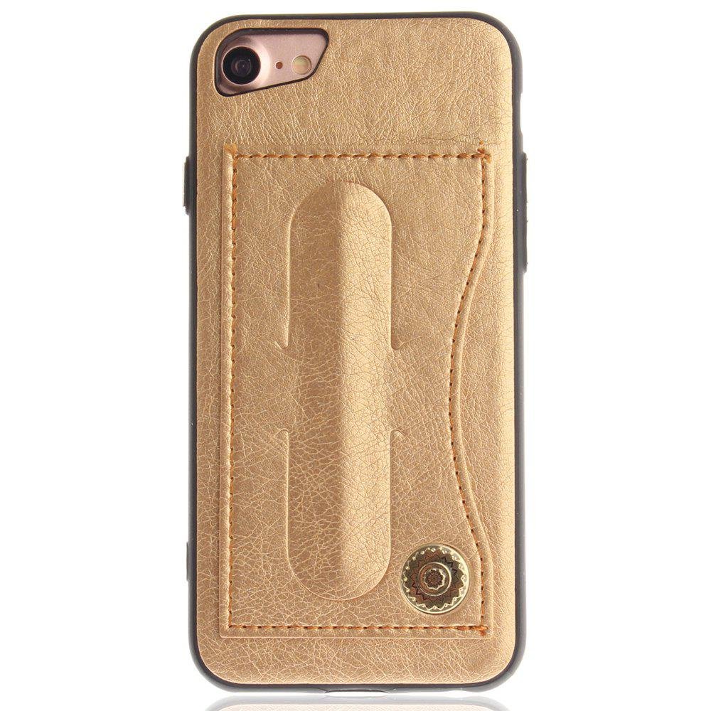 Leather Card Holder Phone Cases for iPhone 7 / 8 Back Cover - GOLD
