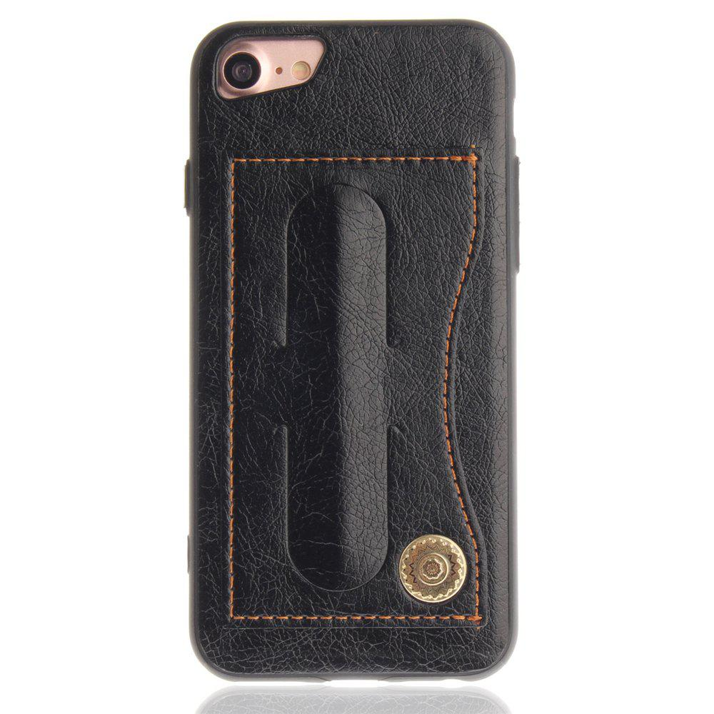 Leather Card Holder Phone Cases for iPhone 7 / 8 Back Cover - BLACK