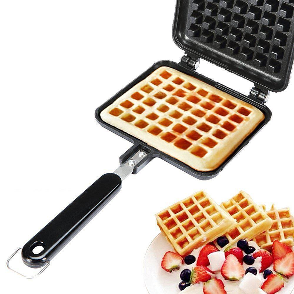 Non-Stick Waffle Cake Maker Mould Tray with Handle for Stovetop 259388301