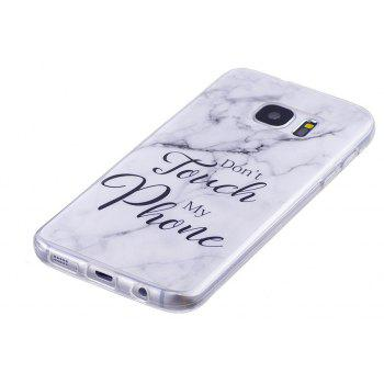 Ultra Thin Black And White Mixed color Marble Stone Patterned Soft TPU Phone Case for Samsung Galaxy S7 - WHITE