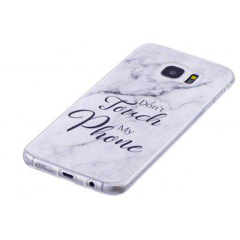 Ultra Thin Black And White Mixed color Marble Stone Patterned Soft TPU Phone Case for Samsung Galaxy S7 Edge - WHITE