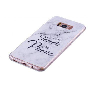 Ultra Thin Black And White Mixed color Marble Stone Patterned Soft TPU Phone Case for Samsung Galaxy S8 - WHITE