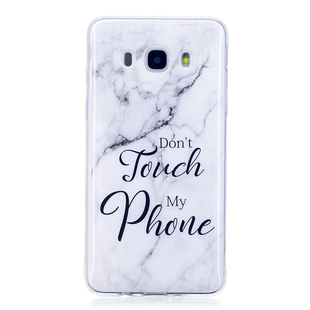Ultra Thin Black And White Mixed color Marble Stone Patterned Soft TPU Phone Case for Samsung Galaxy J510/ J5 2016 - WHITE