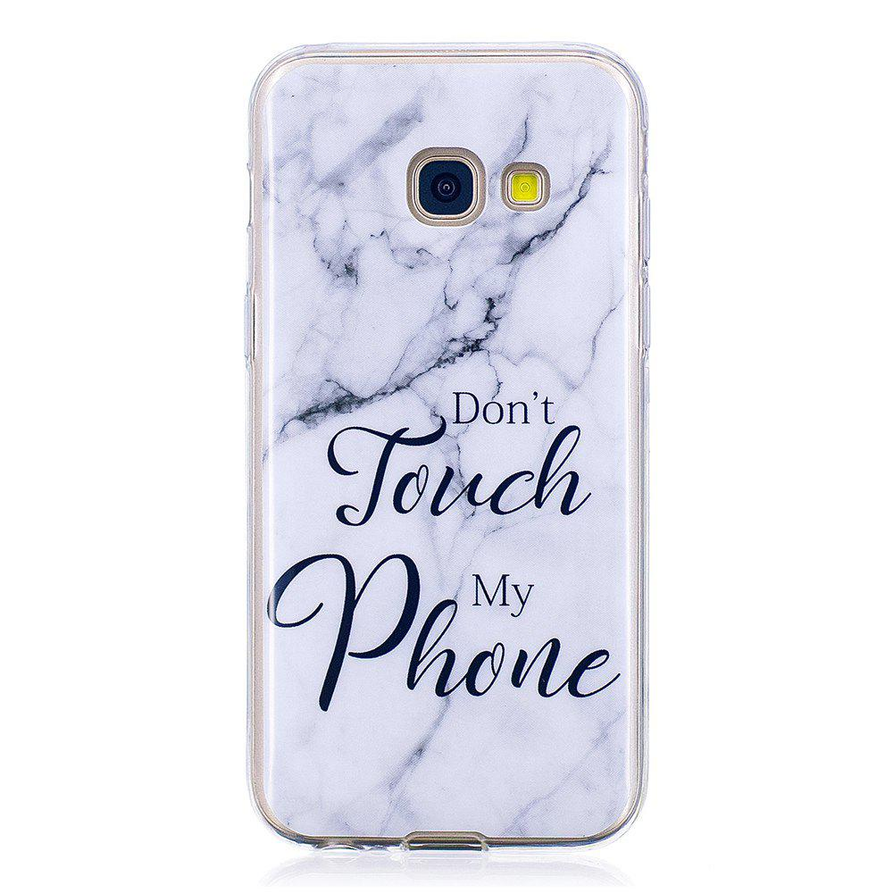 Ultra Thin Black And White Mixed color Marble Stone Patterned Soft TPU Phone Case for Samsung Galaxy A5 2017 - WHITE