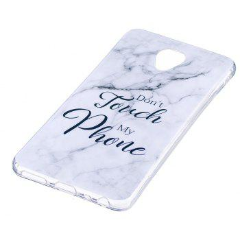Ultra Thin Black And White Mixed color Marble Stone Patterned Soft TPU Phone Case for Meizu M5 Note - WHITE