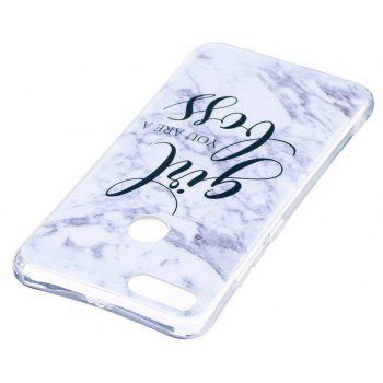 Girl Characters Ultra Thin Marble Stone Patterned Soft TPU Phone Case for Xiaomi 5X - WHITE