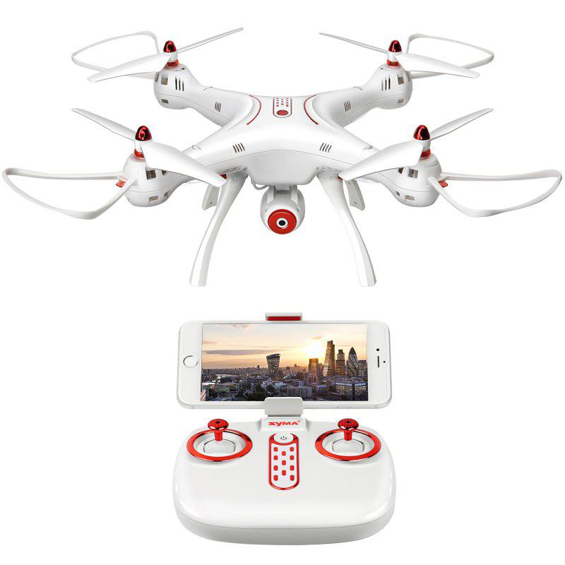 SYMA X8SW RC Drone RTF with FPV Camera / Real-time Transmission / Headless Mode - WHITE 1PC