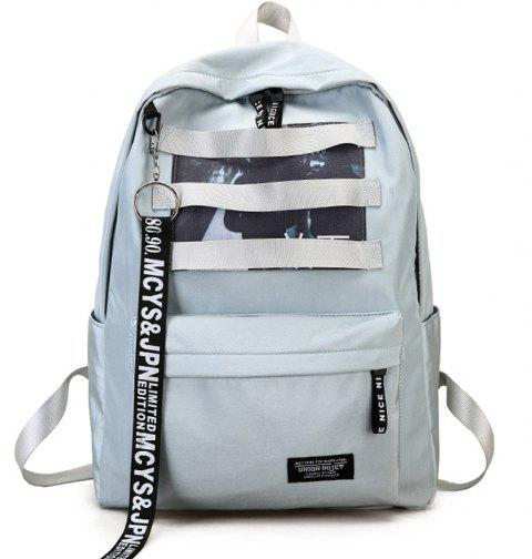 8ee9b25f99 2019 Canvas Print Travel Backpack In LIGHT BLUE