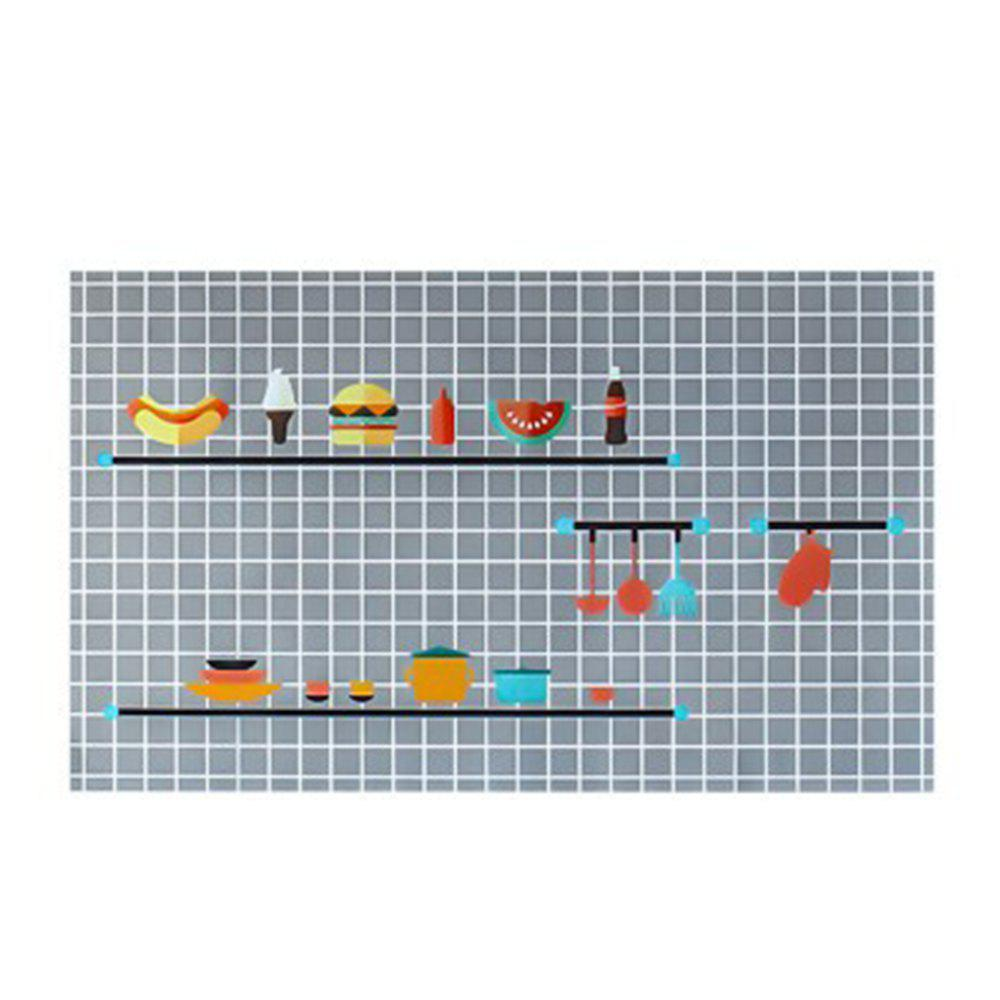 Self-adhesive Kitchen Heat-resistant Oil-proof Waterproof Sticker - multicolor D