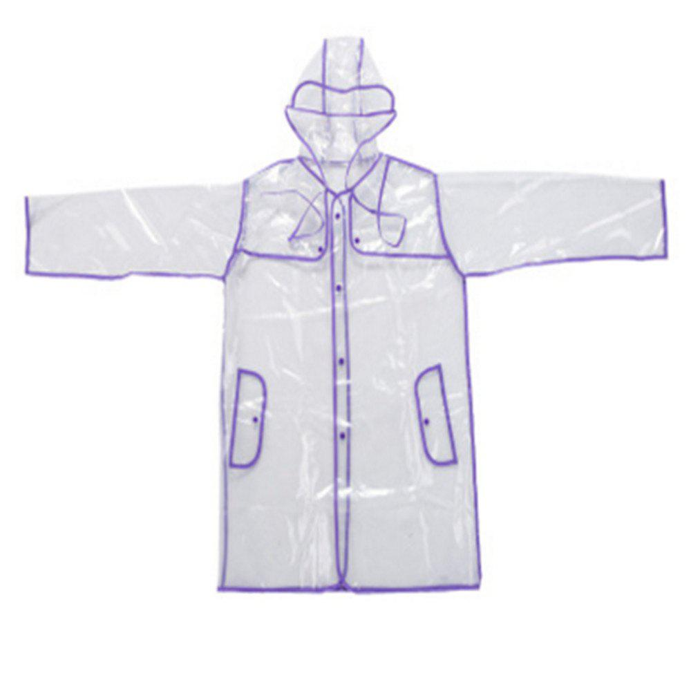 Non-disposable Couple Green Edging PVC Transparent Raincoat -