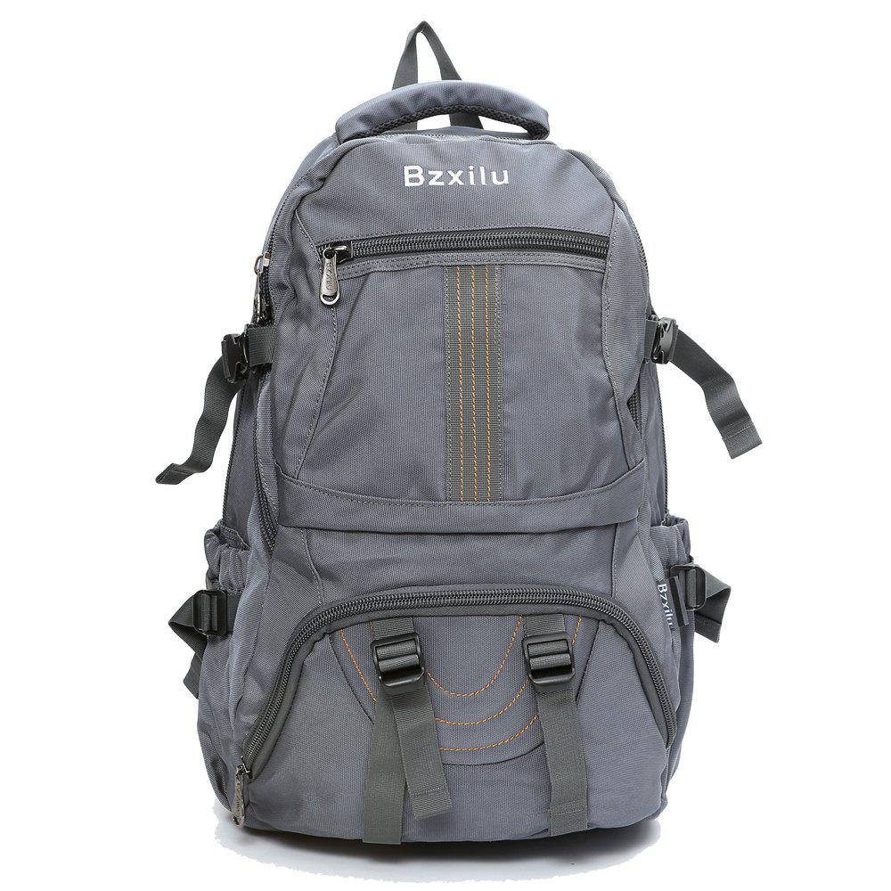 BZIXILU Men'S Business Casual Travel Waterproof Backpack - GRAY VERTICAL