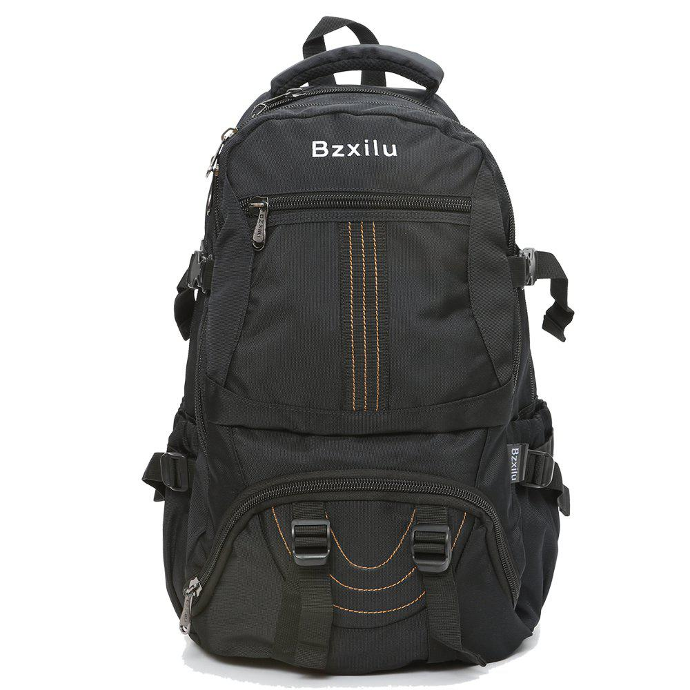 BZIXILU Men'S Business Casual Travel Waterproof Backpack - BLACK VERTICAL