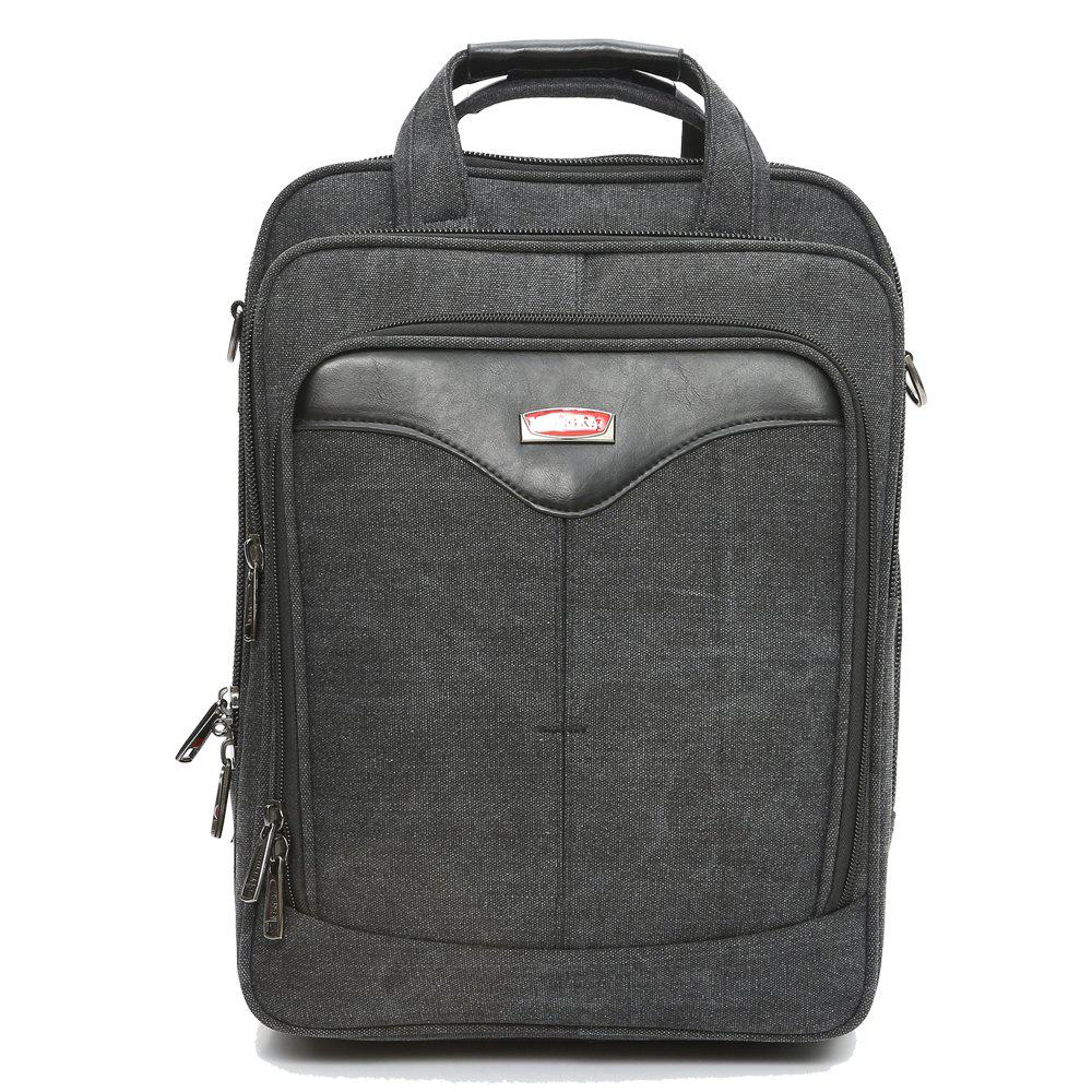 BZIXILU Men'S Business Casual Waterproof Computer Bag - BLACK VERTICAL