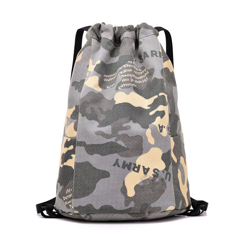 Large Capacity Pocket Lightweight Waterproof Outdoor Backpack - GRAY