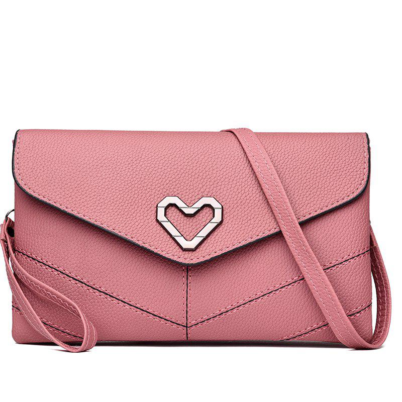 Soft Leather Wild Shoulder Messenger Bag - ROSE