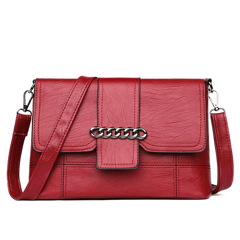 Wild Messenger Shoulder Bag - CRANBERRY