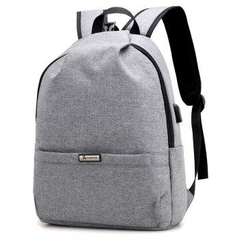 Men Backpacks USB Charging 15 inch Laptop Backbag For Teenager Travel bag Anti Thief Male Daypack - GRAY CLOUD