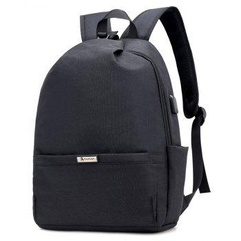 Men Backpacks USB Charging 15 inch Laptop Backbag For Teenager Travel bag Anti Thief Male Daypack - BLACK