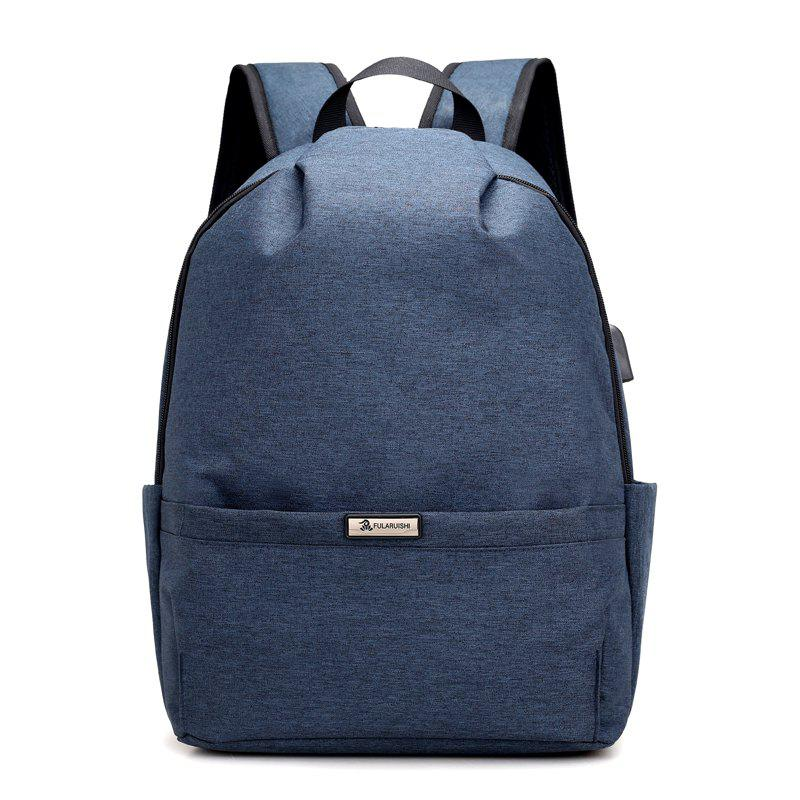 Men Backpacks USB Charging 15 inch Laptop Backbag For Teenager Travel bag Anti Thief Male Daypack - SAPPHIRE BLUE