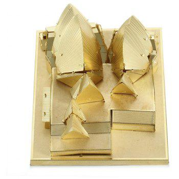 3D Metal Model Opera House Jigsaw Puzzle - GOLD