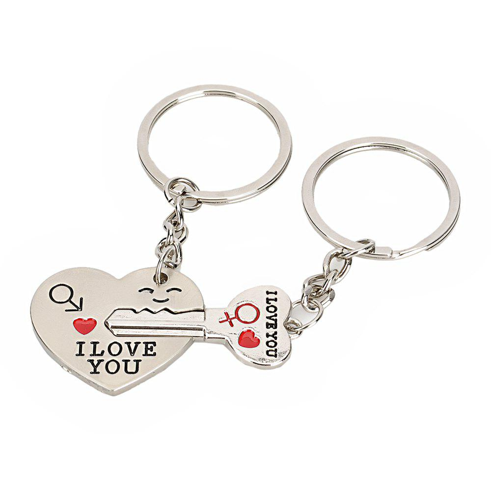 2018 Heart Shaped Valentine Day Keychain Favors Wedding Souvenirs ...