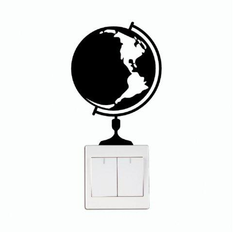 2018 dsu globe map of the world switch sticker cartoon globe vinyl dsu globe map of the world switch sticker cartoon globe vinyl wall sticker black 15 gumiabroncs Image collections