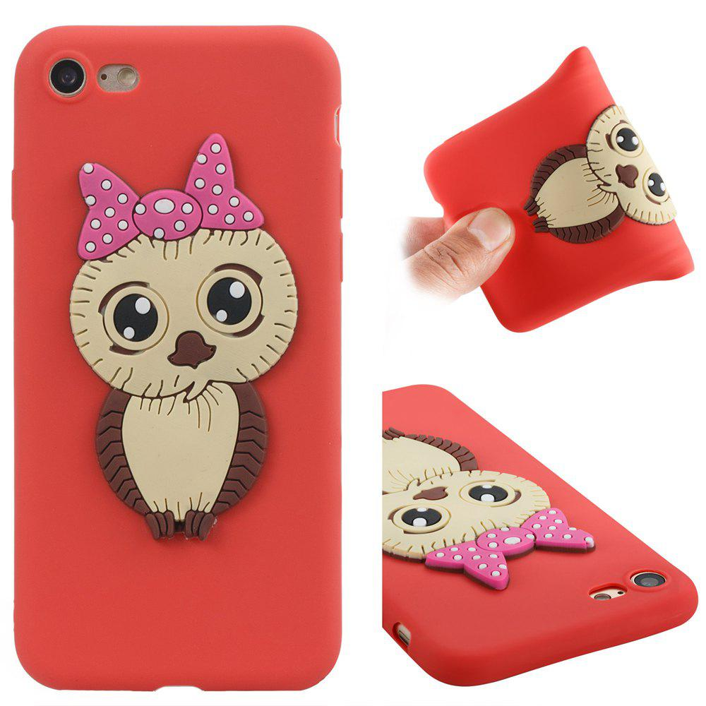 Case for iPhone 7 / 8 Owl Soft Shell - RED