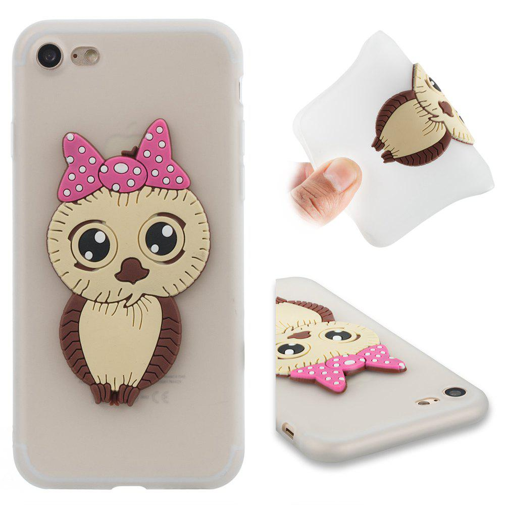 Case for iPhone 7 / 8 Owl Soft Shell - MILK WHITE