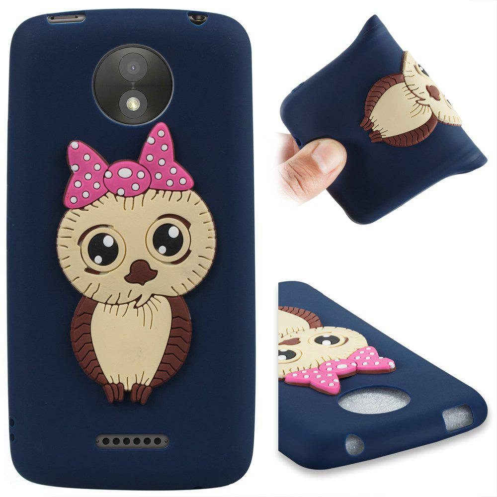 Case for Moto C Plus Owl Soft Shell - MIDNIGHT BLUE