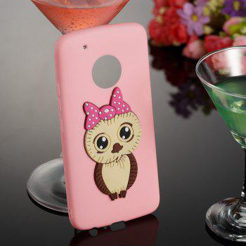 Case for Moto G5 Plus Owl Soft Shell - PINK